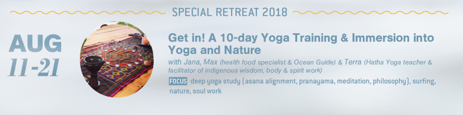 10 day yoga surf nature training Portugal 2018