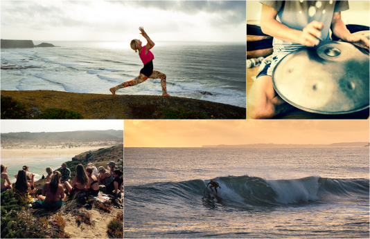 yoga and surf Algarve Portugal retreats