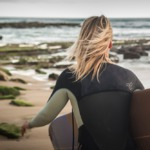 Surf and meditation on Portugal Beach